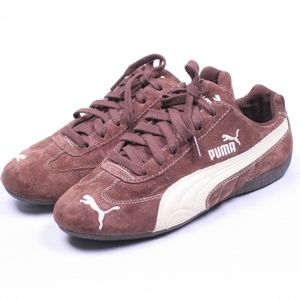 Puma Classic Brown Leather Lace Up Sneaker Shoes 7